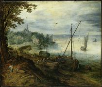 Jan Bruegel d.Ae., Flusslandschaft... by AKG  Images