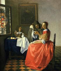 Vermeer, Das Maedchen mit dem Weinglas by AKG  Images