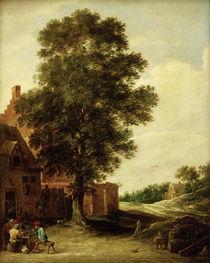 D.Teniers d.J., Wirtshaus unter Linde von AKG  Images