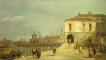 Venedig, Fonteghetto Farina / Canaletto von AKG  Images