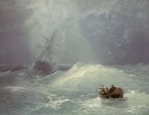 I.K.Aiwasowski/ Stuermischer Tag/ 1885 von AKG  Images