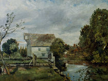 Constable, Muehle am Flusse Stour von AKG  Images