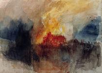 W.Turner, Brand der Houses of Parliament von AKG  Images