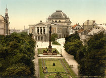 Halle, Stadttheater / Photochrom by AKG  Images