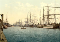 Hamburg, Elbe / Photochrom by AKG  Images