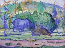 Franz Marc, Pferde auf der Weide by AKG  Images