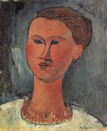 A.Modigliani, Kopf einer Frau by AKG  Images
