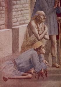 Masaccio, Petrus heilt.., Ausschnitt by AKG  Images