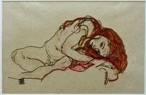 E.Schiele, Kauerndes Maedchen by AKG  Images