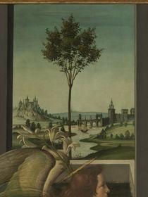 Botticelli, Verkuendigung, Flusslandsch.. von AKG  Images