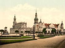 Dresden, Hofkirche u. Schloss /Photochrom von AKG  Images