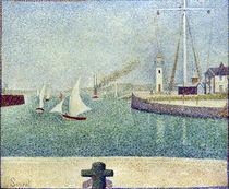 Georges Seurat, Entree du port de Honfl. by AKG  Images