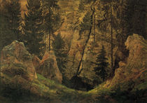 C.D.Friedrich, Felsental (Grab d. Armini von AKG  Images