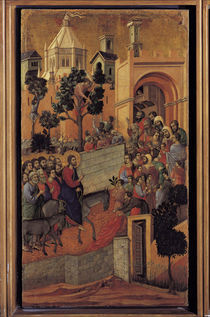 Duccio, Einzug in Jerusalem by AKG  Images