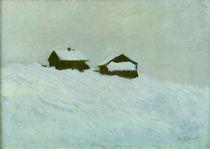 C.Monet, Haeuser im Schnee in Norwegen by AKG  Images