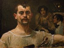 Max Slevogt, Selbstbildnis um 1895 von AKG  Images