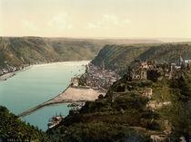 Sankt Goar,Rheinfels / Photochrom von AKG  Images