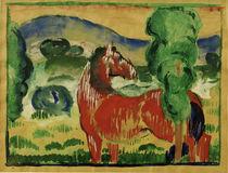 F.Marc, Rotes Pferd in farbiger Landsch. von AKG  Images
