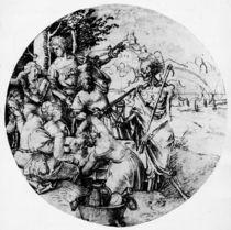 A.Duerer, Tafelnde Gesellschaft und Tod by AKG  Images