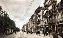 Wiesbaden, Rheinstrasse / Bildpostkarte von AKG  Images