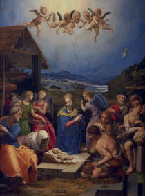 A.Bronzino, Anbetung der Hirten by AKG  Images