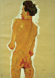Egon Schiele, Rueckenakt (Selbstbildnis) by AKG  Images