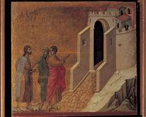 Duccio, Gang nach Emmaus by AKG  Images