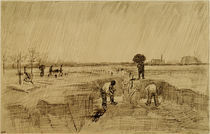 Van Gogh, Friedhof im Regen von AKG  Images