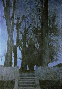 Zwintscher,O./Weidenbaeume bei Nacht/1904 von AKG  Images