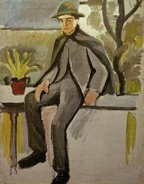 A.Macke, Bauernbursche auf Balkon, 1910 by AKG  Images