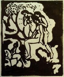 A.Macke, Begruessung, Linolschnitt, 1912 von AKG  Images