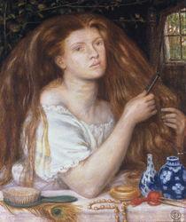 D.G.Rossetti, Sich kaemmende Frau by AKG  Images