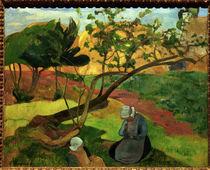 P.Gauguin,Landschaft mit breton.Frauen by AKG  Images