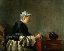 Chardin, Teetrinkende Dame von AKG  Images
