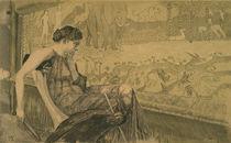 Max Klinger, Penelope am Webstuhl/1895 von AKG  Images
