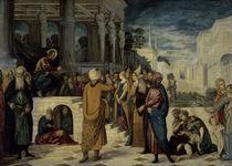 Tintoretto, Christus u.Ehebrecherin von AKG  Images