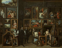Leopold Wilhelm in Galerie / Teniers by AKG  Images