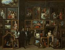 Leopold Wilhelm in Galerie / Teniers von AKG  Images
