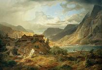 A. Achenbach, norweg. Gebirgslandschaft von AKG  Images