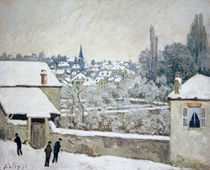Alfred Sisley, Winter in Louveciennes by AKG  Images