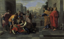 N.Poussin, Tod der Saphira by AKG  Images