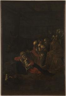 Caravaggio, Anbetung der Hirten by AKG  Images