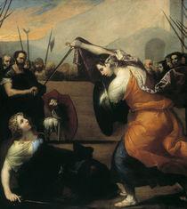J.de Ribera, Zweikampf der Frauen von AKG  Images