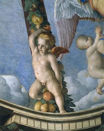 Bronzino, Putto mit Fruchtgirlande von AKG  Images