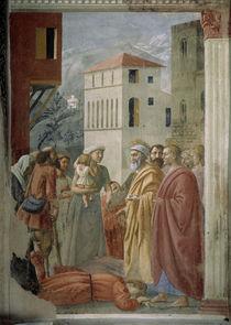 Masaccio, Petrus verteilt die Gueter von AKG  Images