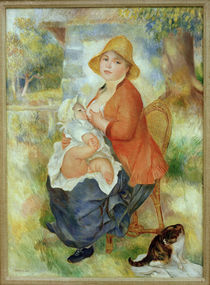 A.Renoir, Mutterglueck. Stillende Mutter von AKG  Images