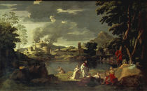 Poussin, Landschaft mit Orpheus by AKG  Images