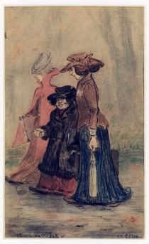 H.Zille, Drei Damen im Tiergarten von AKG  Images