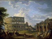 Rom,Kolosseum u.Konstantinsbogen/Pannini by AKG  Images