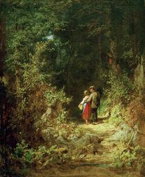 C.Spitzweg, Liebespaar im Walde von AKG  Images